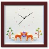 小さめサイズが人気のインテリア時計♪DECLOCK/Animal/シカ