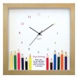 本物のえんぴつをディスプレイした小さめサイズのインテリア時計♪DECLOCK/えんぴつシリーズ