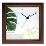 アジアン・ハワイアンにおすすめ!小さめサイズのインテリア時計♪DECLOCK/モンステラ/BR