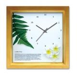 アジアン・ハワイアンにおすすめ!小さめサイズのインテリア時計♪DECLOCK/レザーファーン/NA
