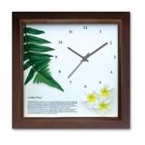 アジアン・ハワイアンにおすすめ!小さめサイズのインテリア時計♪DECLOCK/レザーファーン/BR