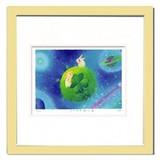 優しい雰囲気で人気のアート♪ Ryo/しあわせを運ぶ星 <ジグレー版画>
