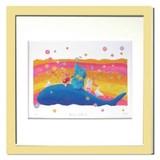 優しい雰囲気で人気のアート♪ Ryo/南の島の音楽隊 <ジグレー版画>