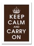 インテリアアート/Vintage Reproduction/Keep Calm (chocolate)