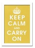 インテリアアート/Vintage Reproduction/Keep Calm (mustard)