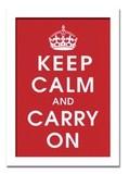 インテリアアート/Vintage Reproduction/Keep Calm (Red)
