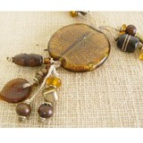 Light Brown Mosaic Beads Necklace