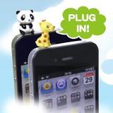 【ハッピーアニマル ジャックアクセ2】人気の動物たちが可愛いスマートフォン用イヤホンジャックピアス