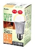 LED電球 電球色 4.5W KDL3FW26【エコ】