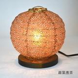 【直送可能/日本製和紙照明】 丸型スタンドライト 麻の葉
