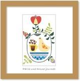 北欧テイストの色使いとデザインがかわいいミニアートコレクション<タカミヤユキコ>コーヒー