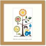 北欧テイストの色使いとデザインがかわいいミニアートコレクション<タカミヤユキコ>Fine Tree