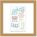 北欧テイストの色使いとデザインがかわいいミニアートコレクション<タカミヤユキコ>サマータイム