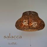 【直送可能/日本製和紙照明】手漉き美濃和紙 和風照明 2灯ペンダントライト SPN2-1108 salacca 電球別売