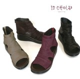 New Color Genuine Leather Behind Fastener Boots Sandal Easily Sole 4 Colors