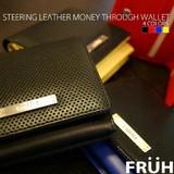 <直送対応>【FRUH】ステアリングレザー・マネースルーウォレットGL201