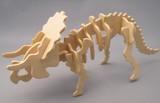 ☆木製組立てキット3D立体パズル「3Dパズル名人(恐竜)」トリケラトプス