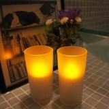 【直送可】【インテリア照明】トールグラス2個セット LEDキャンドル