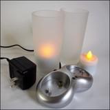 【直送可】【インテリア照明】2ピース充電式キャンドルセット LEDキャンドル
