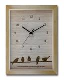 鳥たちの仕草がかわいいインテリアクロック/トリ(Bird)ナチュラル