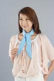 スマートクールスカーフ 水玉ブルー