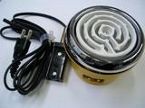 レトロでかわいいベビーコンロ!鋼板製電気コンロ 黄 150W・200W<キッチン・家電・調理器・父の日・ギフト>