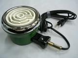 レトロでかわいいベビーコンロ!鋼板製電気コンロ 緑 150W・200W<キッチン・家電・調理器・父の日・ギフト>