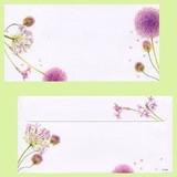 日本製 スマイル(アリウム) 花柄 封筒