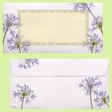 日本製 アガパンサス 花柄 封筒