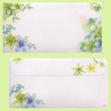 日本製 シンプル クレマチス 花柄 封筒