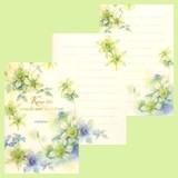 日本製 シンプル クレマチス 花柄 はがき箋