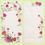 日本製 紫のローズ のし封筒