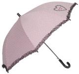 【リールリール・プチ】子供用雨傘 ハートプリント&レースフリル