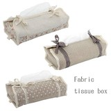 3 Types Fabric Tissue Box Lace