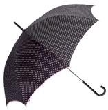 【フェリア・マーレ】水玉プリントパイピング 婦人用雨傘