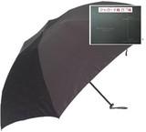 【ケンショー・アベ・オム】紳士用折りたたみ雨傘 ロゴジャガード