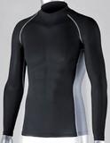 冷感・消臭PS長袖ハイネックシャツ ブラック<暑さ対策・熱中症・UVカット・スポーツ・インナーシャツ>