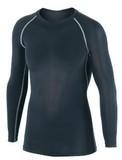 冷感・消臭PS長袖クルーネックシャツ ブラック<暑さ対策・熱中症・UVカット・UV対策・スポーツ>