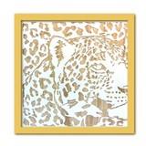 Wood Carving Art LEOPARD/NA