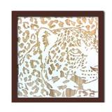 Wood Carving Art LEOPARD/BR