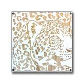 Wood Carving Art LEOPARD/AC