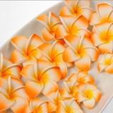 Frangipani Sponge Artificial Flower Orange