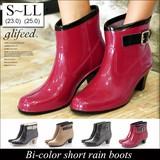 ◆[追加7回目]バイカラーショートレインブーツ/雨具/靴/長靴◆414811