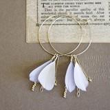 Pierced Earring Feather Pierced Earring