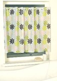 外から見えない 浴室向けカフェカーテン ガーデンカラー