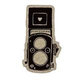 【こもれび グッズ】ビックアップリケワッペン  アイロン接着タイプ カメラ