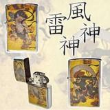 【2種アソート】風神雷神オイルライター 国宝 お土産 日本 和風 クールジャパン