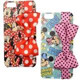 【Disney】カスタムカバーリボン iPhone 5 ミニー【iPhone SE/5s/5対応】