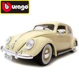 【Bburago】1:18 ワーゲンビートル(1955) ベージュ