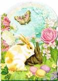 PUNCH STUDIO イースター グリーティングカード  <ウサギ×バラ>